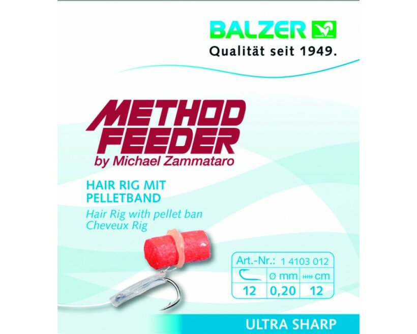 Balzer Method Feeder - Hair Rig für Pellets, 5 Stk.